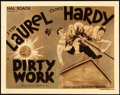 "Movie Posters:Comedy, Dirty Work (MGM, 1933). Title Lobby Card (11"" X 14"").. ..."