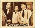 "Movie Posters:Comedy, Dirty Work (MGM, 1933). Lobby Card (11"" X 14"").. ..."