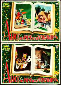 "Alice in Wonderland (RKO, 1951). Italian Small Photobustas (6) (13"" X 19"") and Large Photobustas (3) (19""..."