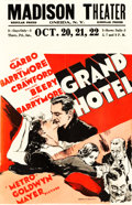 "Movie Posters:Academy Award Winners, Grand Hotel (MGM, 1932). Window Card (14"" X 22"").. ..."