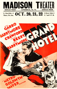 "Grand Hotel (MGM, 1932). Window Card (14"" X 22"")"