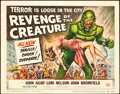 "Movie Posters:Horror, Revenge of the Creature (Universal International, 1955). TitleLobby Card (11"" X 14"").. ..."