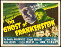 "Movie Posters:Horror, The Ghost of Frankenstein (Universal, 1942). Title Lobby Card (11"" X 14"").. ..."