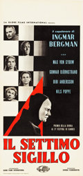 """Movie Posters:Foreign, The Seventh Seal (Global Films International, 1959). ItalianLocandina (13"""" X 27.5"""").. ..."""
