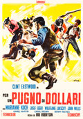 "Movie Posters:Western, A Fistful of Dollars (Unidis, 1964). Italian 2 - Foglio (38"" X 54"").. ..."