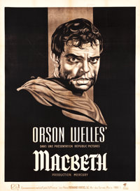 "Macbeth (Republic, 1948). French Grande (45.5"" X 62.5"")"