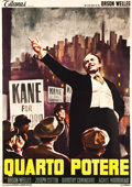"Movie Posters:Drama, Citizen Kane (Titanus, R-1960s). Italian 4 - Foglio (54.5"" X 76.5"").. ..."