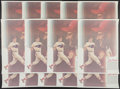 Baseball Collectibles:Photos, Stan Musial Signed Oversized Coca Cola Prints Lot of 15....