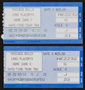 Basketball Collectibles:Others, 1990 Michael Jordan Playoffs Ticket Stubs Lot of 2 - 45 and 47 Point Games!...