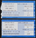 Basketball Collectibles:Others, 1990 and 1991 Michael Jordan Playoffs Ticket Stubs Lot of 2 - 35and 38 Point Games!...