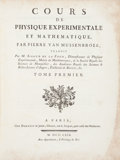 Books:Science & Technology, Petrus van Musschenbroek (Joseph-Aignan Sigaud De La Fond,translator). Cours de Physique Experimentale Et Mathematique...(Total: 3 Items)
