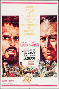 "The Agony and the Ecstasy (20th Century Fox, 1965). One Sheet (27"" X 41""). Drama"