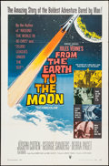 "Movie Posters:Science Fiction, From the Earth to the Moon (RKO, 1958). One Sheet (27"" X 41""). Science Fiction.. ..."