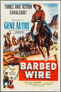 "Barbed Wire (Columbia, 1952). One Sheet (27"" X 41""). Western"