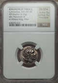 Ancients:Greek, Ancients: THRACIAN KINGDOM. Lysimachus (305-281 BC). AR drachm(4.24 gm)....