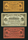 Miscellaneous:Other, Happiness Candy Stores 1/2; 1; 2 1/2 Coupons circa 1920s.. ...(Total: 3 items)