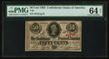 Confederate Notes:1863 Issues, T63 50¢ 1863 PF-7 Cr. UNL.. ...