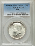 Kennedy Half Dollars, 1964-D 50C Doubled Die Obverse MS65 PCGS. PCGS Population(974/562). NGC Census: (1280/324). Mintage: 156,205,440.Numismed...