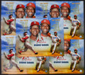 Baseball Collectibles:Photos, Stan Musial and Bob Gibson Signed Oversized Prints Lot of 10....