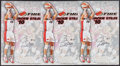 Basketball Collectibles:Photos, Jackie Stiles Signed Oversized Photographs Lot of 3....