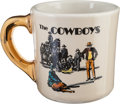 "Movie/TV Memorabilia:Memorabilia, A John Wayne-Gifted Coffee Mug from ""The Cowboys.""..."