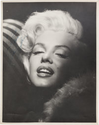 A Marilyn Monroe Oversized Signed Black and White Photograph, Circa 1954
