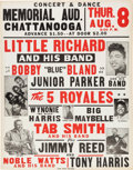 Music Memorabilia:Posters, Little Richard Memorial Auditorium Chattanooga Concert Poster(1957)....