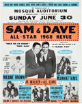 "Music Memorabilia:Posters, Sam and Dave ""All-Star Review of 1968"" Mosque Auditorium ConcertPoster (OK Productions, 1968)...."