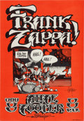 Music Memorabilia:Posters, Frank Zappa/Alice Cooper Tour Poster, Signed By Artist Rick Griffin(1972)....
