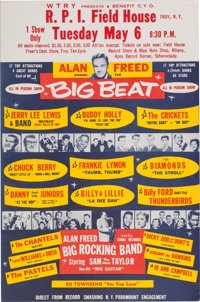 Buddy Holly/Jerry Lee Lewis/Alan Freed Troy, NY Concert Handbill (1958)