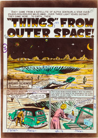 """EC Weird Science #12 (#1) """"'Things' From Outer Space!"""" Complete Story Silverprint Proof (EC, 1950).... (Total:..."""