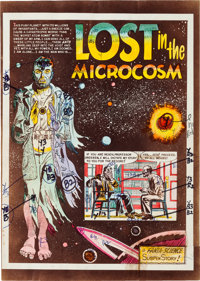 "EC Weird Science #12 (#1) ""Lost in the Microcosm"" Complete Story Silverprint Proof (EC, 1950).... (Total: 8 It..."