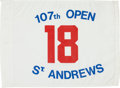 Golf Collectibles:Miscellaneous, 1978 British Open (The Open Championship) 18th Hole Pin Flag, Winner Jack Nicklaus....