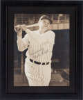 Baseball Collectibles:Photos, 1940's Babe Ruth Signed Oversized Photograph, PSA/DNA NM-MT 8....