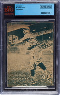 Baseball Cards:Singles (1930-1939), 1931 W517 Babe Ruth, Throwing #4 BVG Authentic With Piercy'sConfectionery Stamp. ...