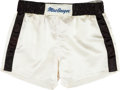 Boxing Collectibles:Memorabilia, 1980 Muhammad Ali Fight Worn Trunks from Larry Holmes Bout....