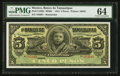 World Currency: , Mexico Banco De Tamaulipas 5 Pesos 31.3.1914 Pick S429r Remainder. ...