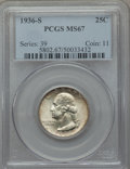 Washington Quarters, 1936-S 25C MS67 PCGS....