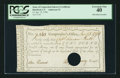 Colonial Notes:Connecticut, Connecticut Interest Certificate £1 Jan. 15, 1790 PCGS Extremely Fine 40 HOC Anderson 52.. ...
