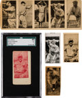 Baseball Cards:Lots, 1923 W572 Perkins (Rare Red Variety), Oddities & 5-Card Strip With Alexander Collection (5 Items). ...