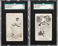 Baseball Cards:Lots, 1922 Witmor Candy Co. SGC Graded Type Pair (2). ...
