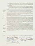 Baseball Collectibles:Others, 1958 Eddie Mathews Milwaukee Braves Uniform Player's Contract,PSA/DNA Gem Mint 10. ...