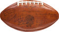 Football Collectibles:Balls, 1930 New York Giants vs. Notre Dame Fighting Irish Team Signed Game Football - Held to Raise Money for New York Unemployed....