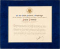 Baseball Collectibles:Others, 1962 John F. Kennedy Signed Under Secretary of BaseballPresidential Appointment, PSA/DNA NM-MT 8....