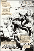"Original Comic Art:Splash Pages, Gene Colan and Al Williamson Marvel Comics Presents #105""Male Bonding Part 5: Through Thick and Thin"" Splash Page..."