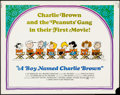 """Movie Posters:Animation, A Boy Named Charlie Brown (National General, 1969). Half Sheet (22""""X 28""""). Animation.. ..."""