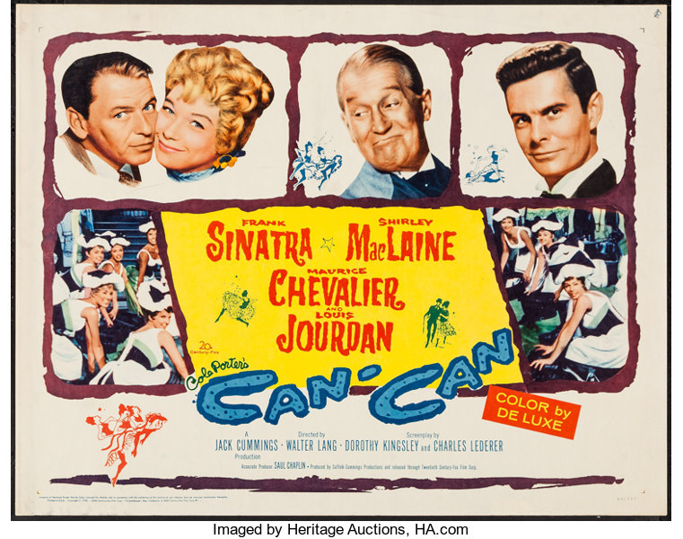 "Movie Posters:Musical, Can-Can (20th Century Fox, 1960). Half Sheet (22"" X 28""). Musical....."