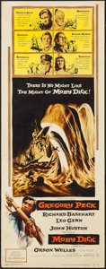 "Movie Posters:Adventure, Moby Dick (Warner Brothers, 1956). Insert (14"" X 36""). Adventure....."