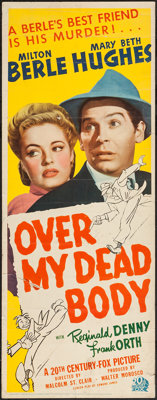 "Over My Dead Body (20th Century Fox, 1942). Insert (14"" X 36""). Comedy"