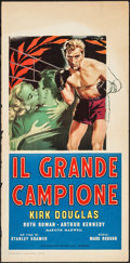 "Movie Posters:Sports, Champion (Manini Film, R-1958). Italian Locandina (13.25"" X 27.5). Sports.. ..."